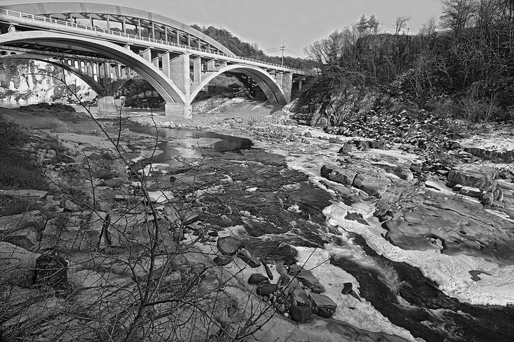 Seungilgyo Bridge Cheorwon In Winter:  Spring thaw beginnings in Cheorwon near the North Korean DMZ, Gangwon-do Province.  http://www.mattmacdonaldphoto.com
