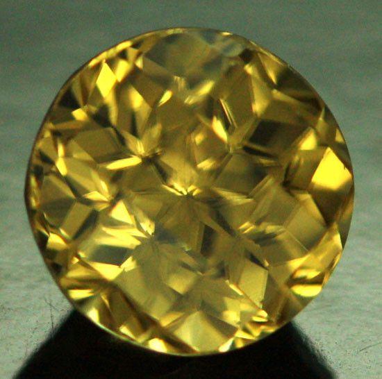 3.39 cts CERTIFIED Canary Yellow Zircon - Fancy Cut (ZCY7) | gemstones | zircon | faceted gemstone