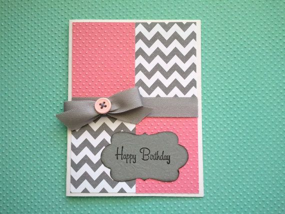 Girly Happy Birthday Card by lanascraftcreations on Etsy, $4.00
