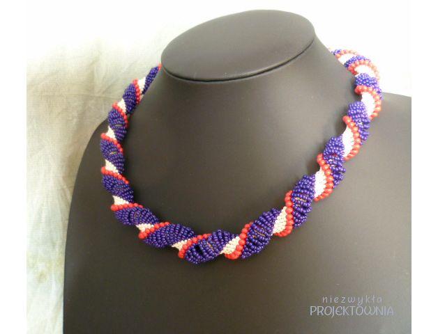 London Time naszyjnik - Projektownia - Naszyjniki krótkie #necklace #bijou #fashion #citylook #londonstyle #handcrafted #dutchspiral