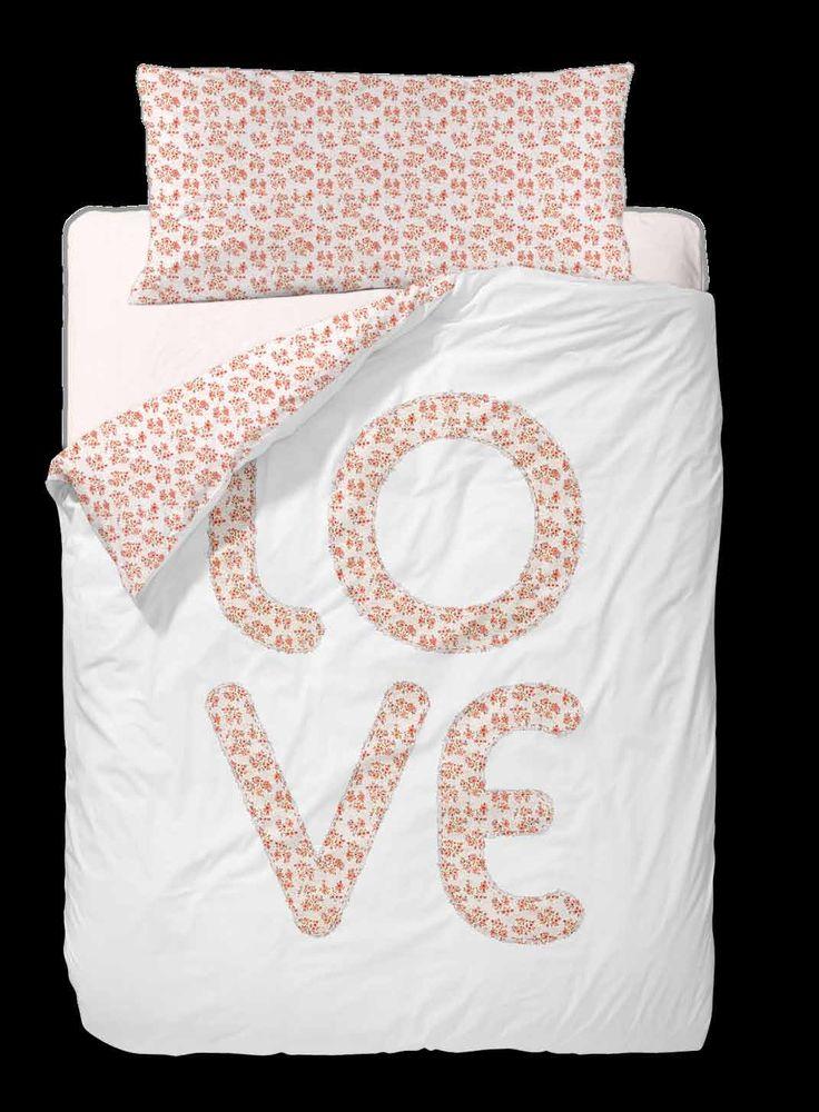 Funda Nordica Love,detalle letras bordado,100% algodón,compuesta 3 piezas