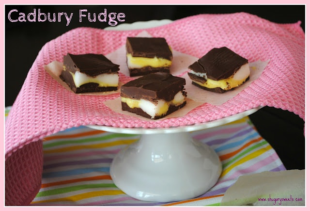 Cadbury Egg Fudge from @shugarysweets