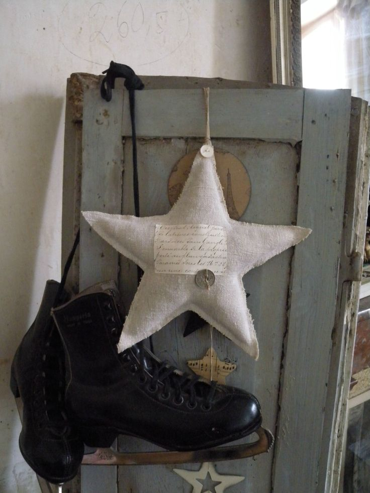 Linen Star and Ice Skates