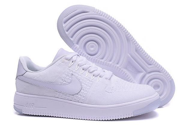air force one flyknit blanche homme