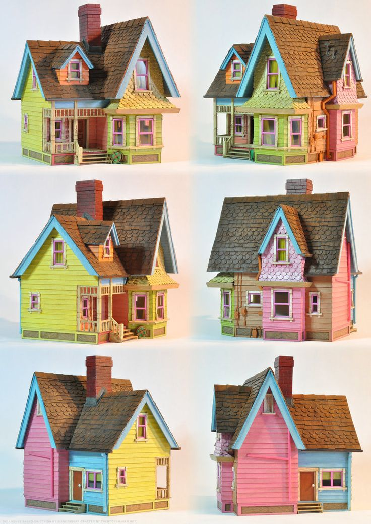 "One of the kind 1:48 dollhouse based on the house from Disney/Pixar animation ""Up""."