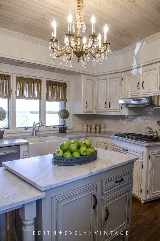 All of the cabinets were painted in snowbound by sherwin for French country kitchen colors