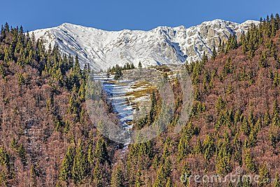 Piatra Craiului mountains peaks covered by snow, Brasov county, Romania.. - Download From Over 28 Million High Quality Stock Photos, Images, Vectors. Sign up for FREE today. Image: 48980023