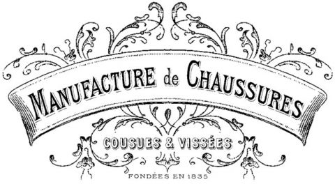 French Shoe Factory Transfer // The Graphics Fairy