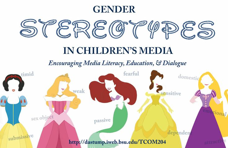 gender stereotypes in popular media Are men and women portrayed differently in tv ads & furnham, a (2013) age and sex stereotypes in british television advertising psychology of popular media culture, 2, 171-186 lovdal, l (1989) gender roles messages in television commercials: an update sex roles, 21.