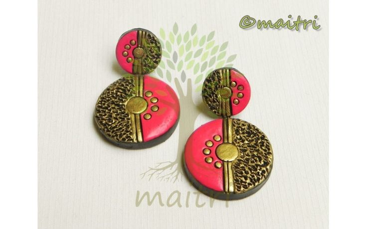 Big Size Terracotta Earrings