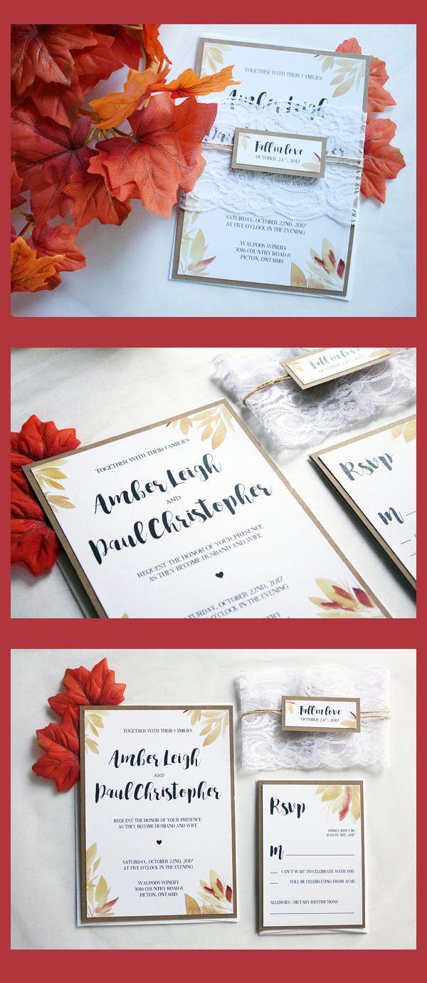 Unique Autumn Wedding Invitation Pictures - Invitations and ...