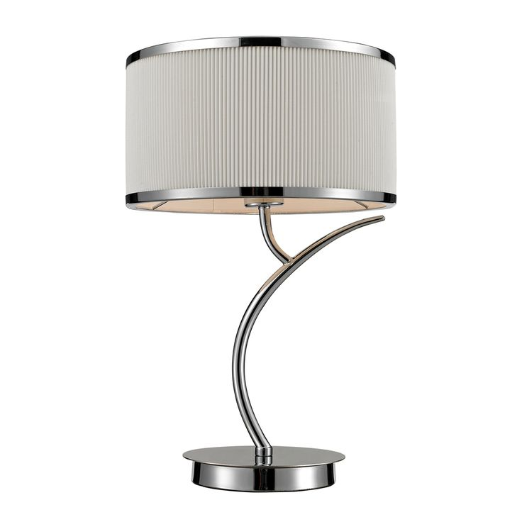 Dimond Lighting Contemporary Annika 1 Light Table Lamp Shown In Polished Chrome Finish