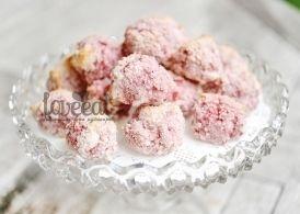 Клубнично-кокосовые+пирожные