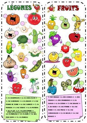 Fruits et Légumes. Associer