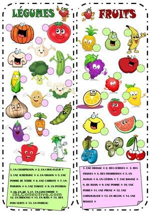 Fruits l gumes fruit fle and d - Jeux de fruit et legume coupe ...