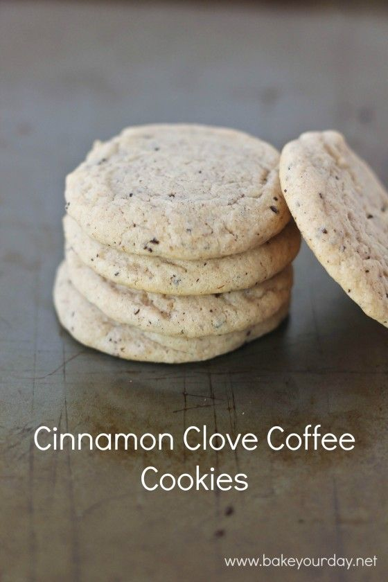 Cinnamon Clove Coffee Cookies from Bake Your Day inkatrinaskitchen.com #BringtheCOOKIES