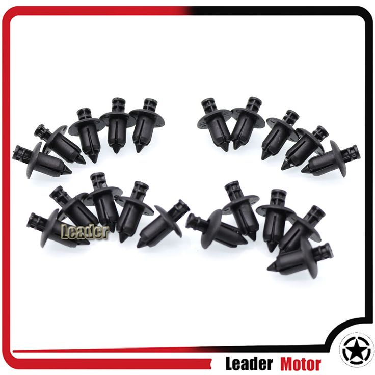 For Honda, Yamaha, Suzuki, Kawasaki ATV Motorcycle Accessories Nylon Fairing Trim Panel Fasteners Clip Rivets 20pcs 6mm Black Only US $5.09
