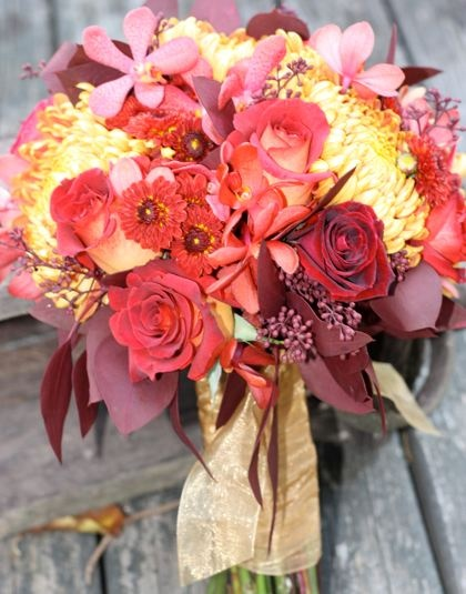 fall wedding flowers autumn flowers sunflowers