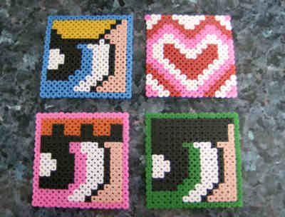 Powerpuff Girls hama beads coasters by  Las cositas de Pixu
