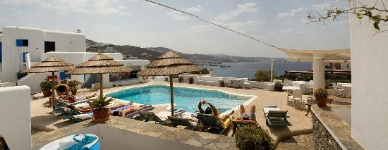 Hotel Princess of Mykonos 2nd stop.  Love this hotel