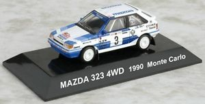 1/64 RALLY CAR COLLECTION SS15 MAZDA 323 4WD 1990 Monte Carlo