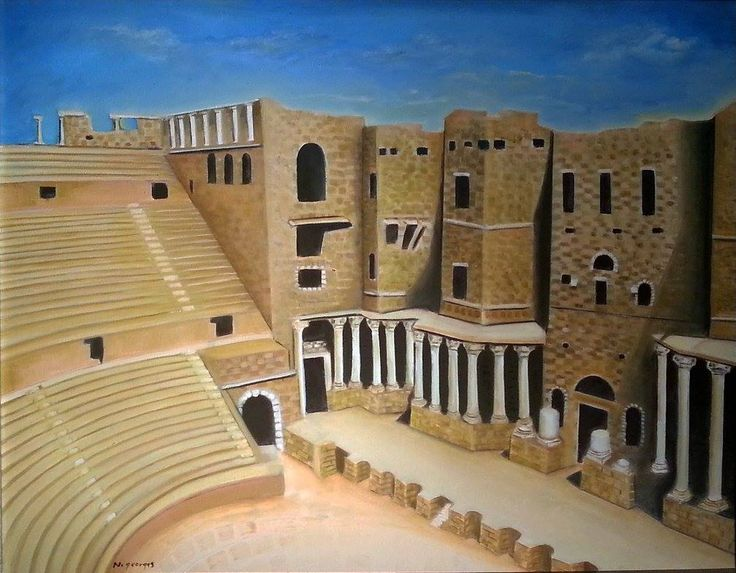 Ancient City of Bosra, Syria - Nasri Georges Art