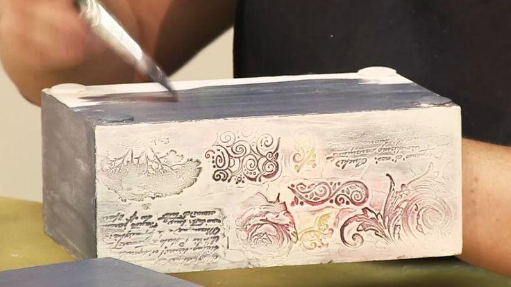 ЗАКАЗ видео мастер-класса Короб с волшебными штампами. Декупаж. Анонс. А...