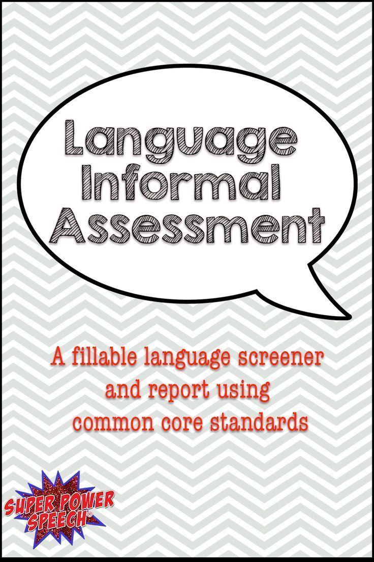 Formal vs. Informal Assessments