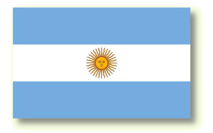 Bild der Fahne von Argentinien. Die argentinische Fahne wurde das erste Mal in Rosario gehisst. (Bandera de Argentina).  #Argentinien #Fahne #flag #Rosario