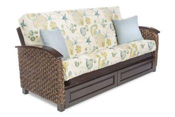 Barbados futon sofa, Island styling.