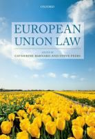 European Union law / edited by Catherine Barnard and Steve Peers.- SG Bar REF