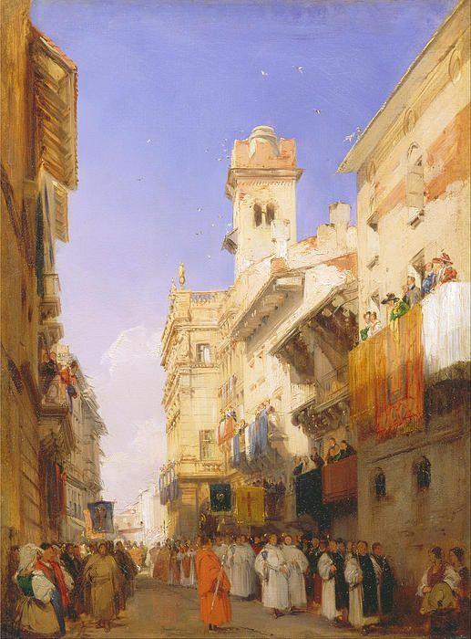 Corso Sant Anastasia Verona  Richard Parkes Bonington