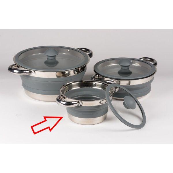 Folding Saucepan Small - Grey