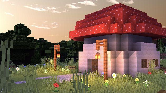 Minecraft Fairy garden mushroom house🍄✨ in 2020 Fairy garden mushrooms Minecraft architecture Garden mushrooms