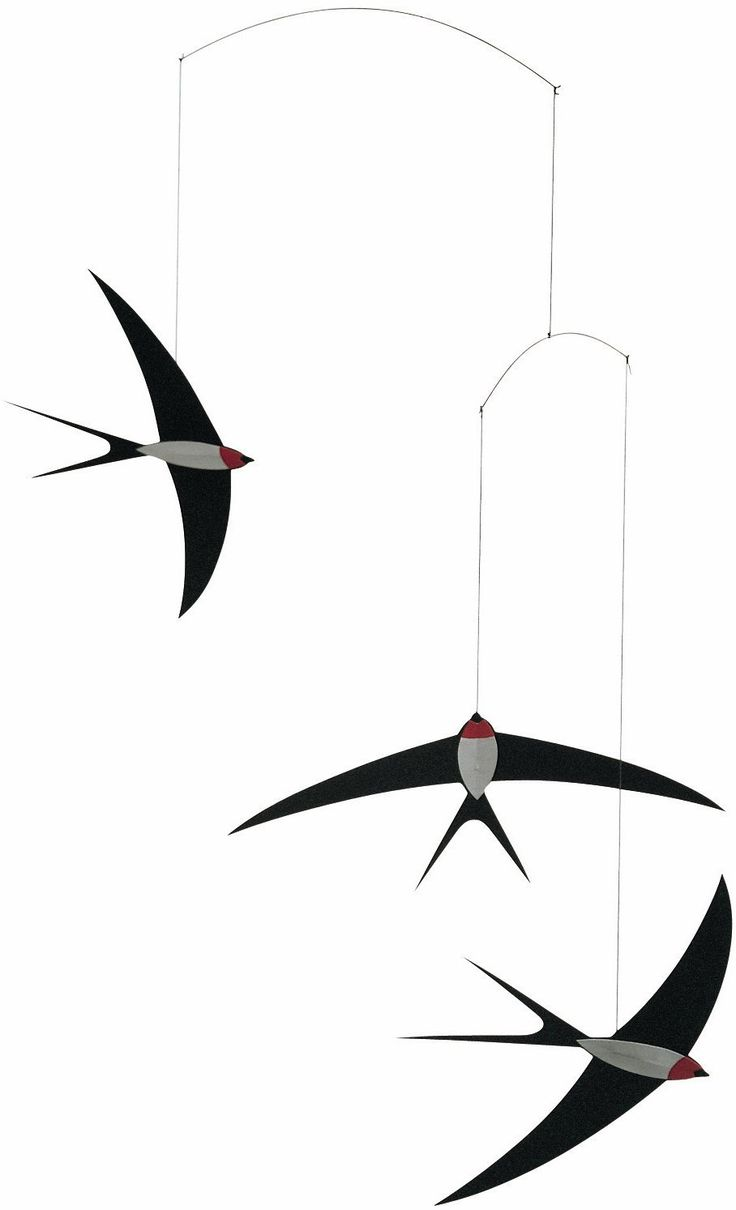 AmazonSmile: Flensted Mobiles 3 Swallow Hanging Mobile - 20 Inches Cardboard: Home & Kitchen