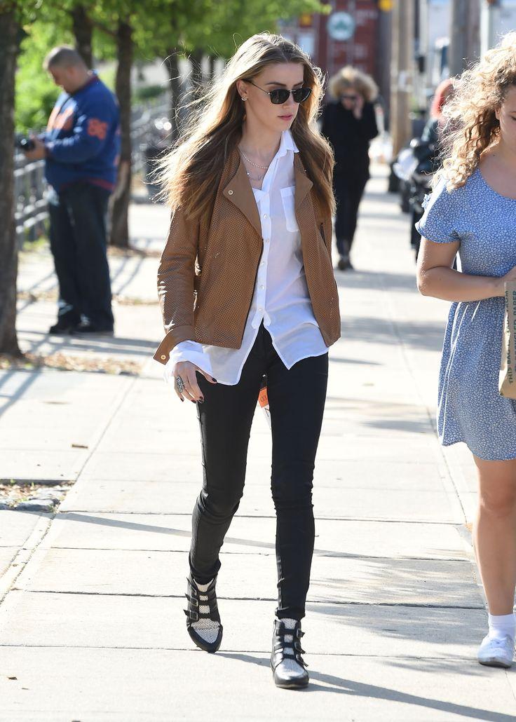Amber Heard Spotted Wearing the Marlin Jimmy Choo
