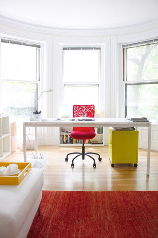 A Sunny Streamlined Home Office