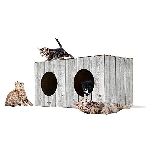 2 Pack Corrugated Cardboard Cat Box | Cardboard Kitty Condo, Best Kitty Condos -- Check this awesome product by going to the link at the image.