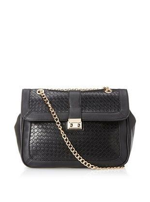 38% OFF Nila Anthony Women's Faux Woven Satchel Bag, Black