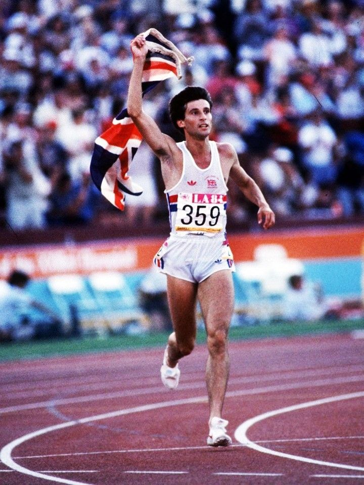Sebastian Coe became the first man to win consecutive Olympic gold medals in the 1500 metres running for Great Britain in 1984.
