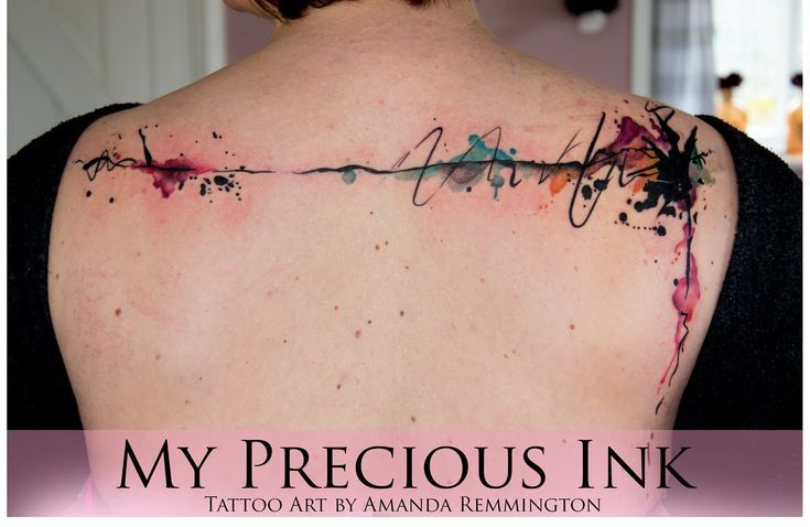 Awesome Watercolor Tattoo Abstract Watercolor Back Tattoo Abstract Tattoo Watercolor Abstract Tattoo Tattoos