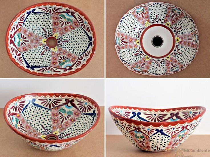 Azteca - MEX 7 Aufsatzwaschbecken oval aus Mexiko von Mexambiente