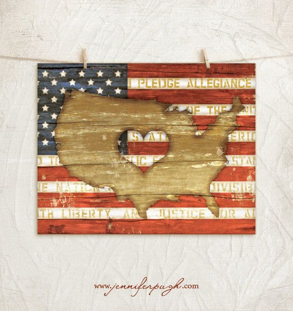 The Heart of America  11x14 Art Print  by JenniferPughStudios, $16.00