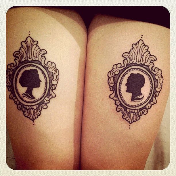 16 Stunning Silhouette Tattoos That Are The Perfect Blend Of Vintage & Modern