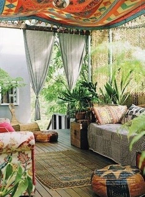 beautiful bohemian patio designs - Bohemian Design Ideas