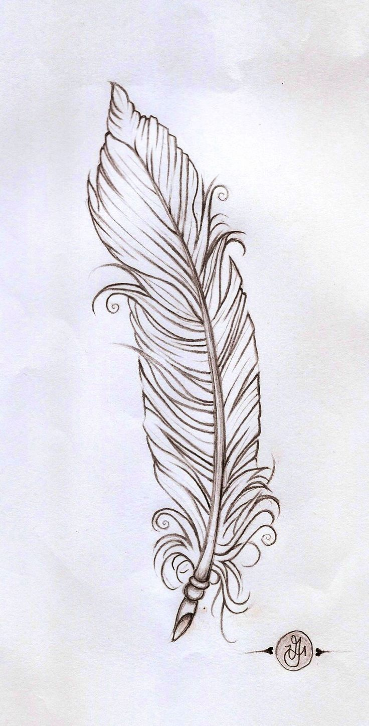 feather linework by ~verisa1978 on deviantART