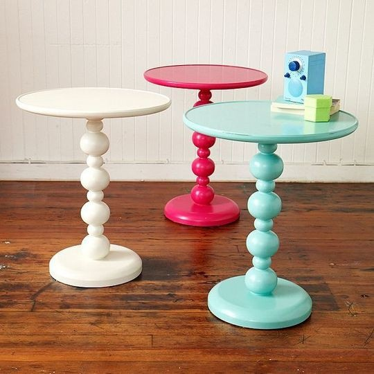 SIDE TABLES limorlebRoom Colours, Tiffany Blue, New Room, Girls Room, Room Ideas, End Tables, Pastel Colors, Bedside Tables, Teen Room
