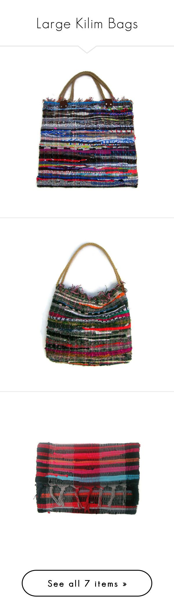 Large Kilim Bags by maslindadesigns on Polyvore featuring women's fashion, bags, handbags, shoulder bags, bohemian shoulder bag, boho shoulder bag, boho handbag, bohemian purse and boho chic handbags