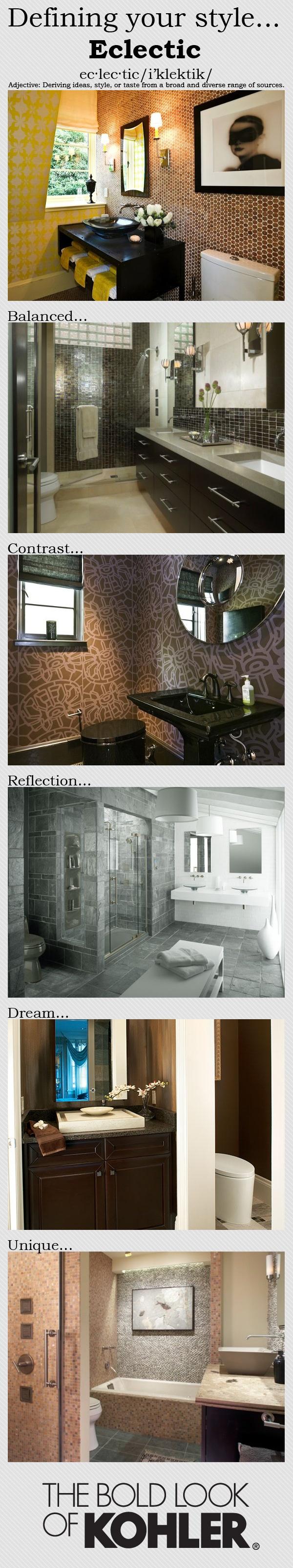 @Kohler Co. The Bold Look of Kohler! Defining Your Style Guide with the Bold look of #Bathroom #Kohler #Design #Remodel
