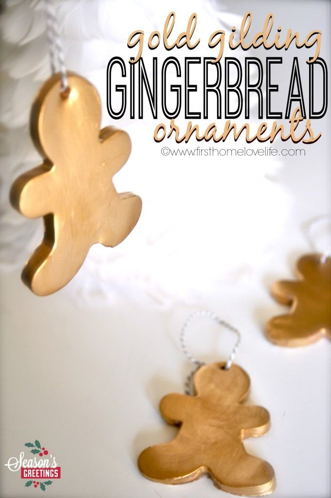 Gold Gingerbread Ornaments | First Home Love Life